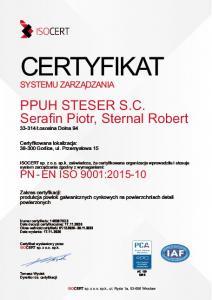 certyfikat steser 2020